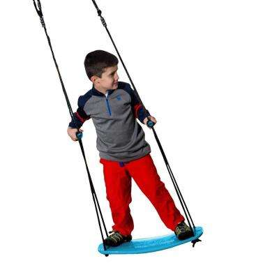 Kick Blue Stand Up Tree Swing with Rope