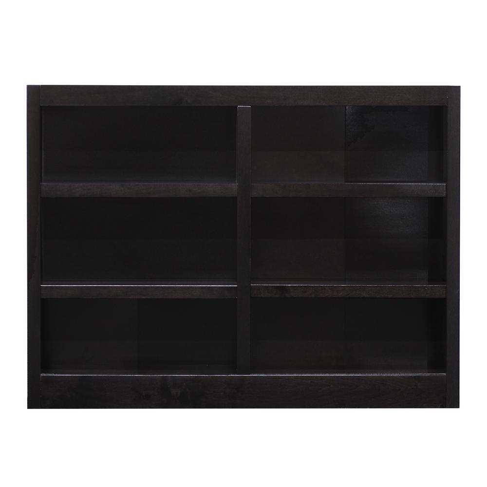 36 in. Espresso Wood 6-shelf Standard Bookcase with Adjustable Shelves