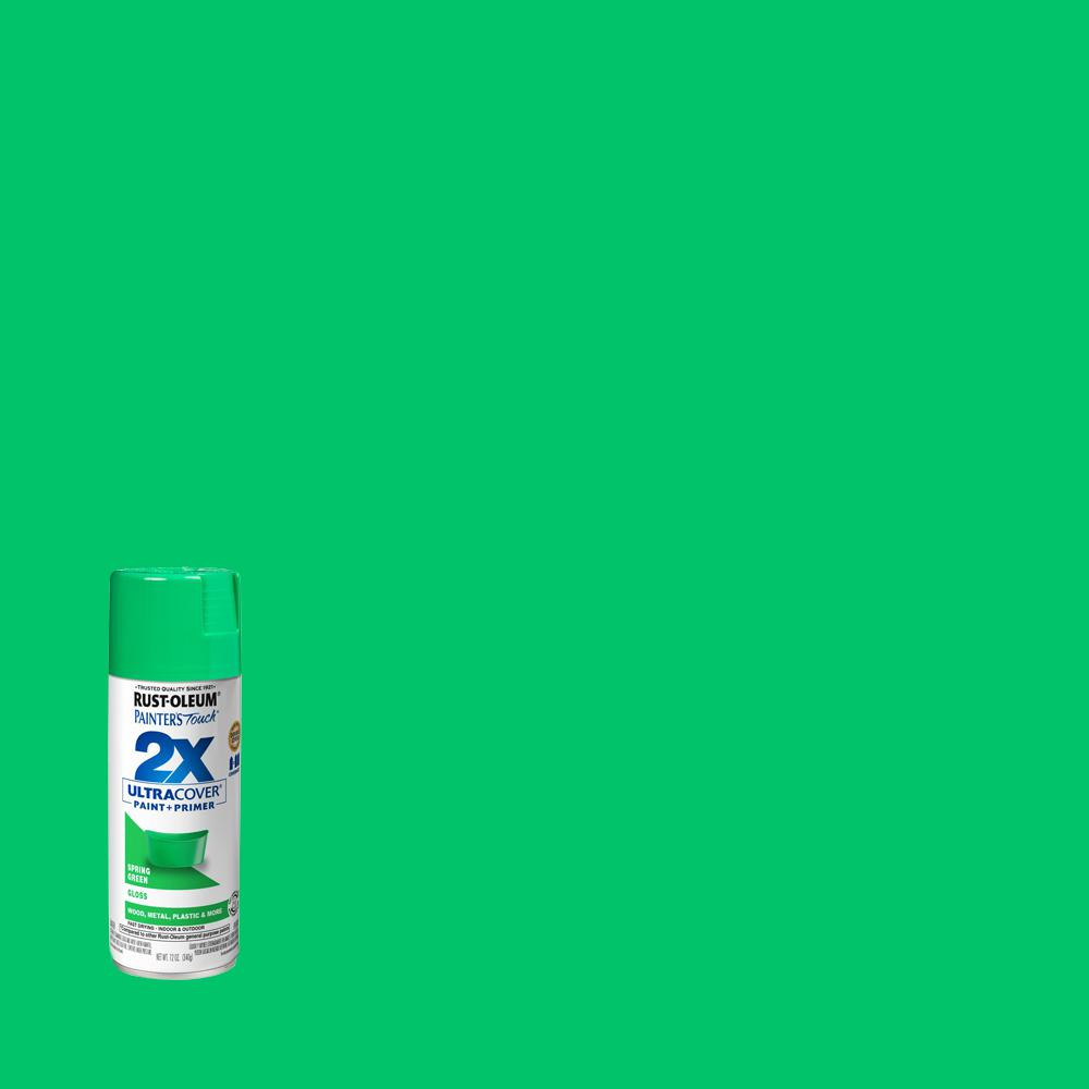 Rust-Oleum Painter's Touch 2X 12 oz. Gloss Spring Green General Purpose Spray Paint