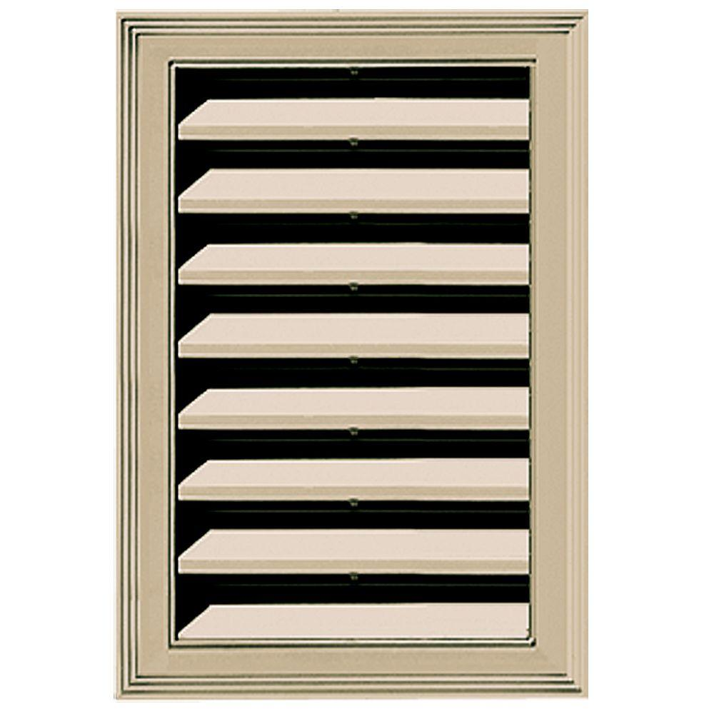 Builders Edge 12 in. x 18 in. Replacement Gable Vent #013 Light Almond