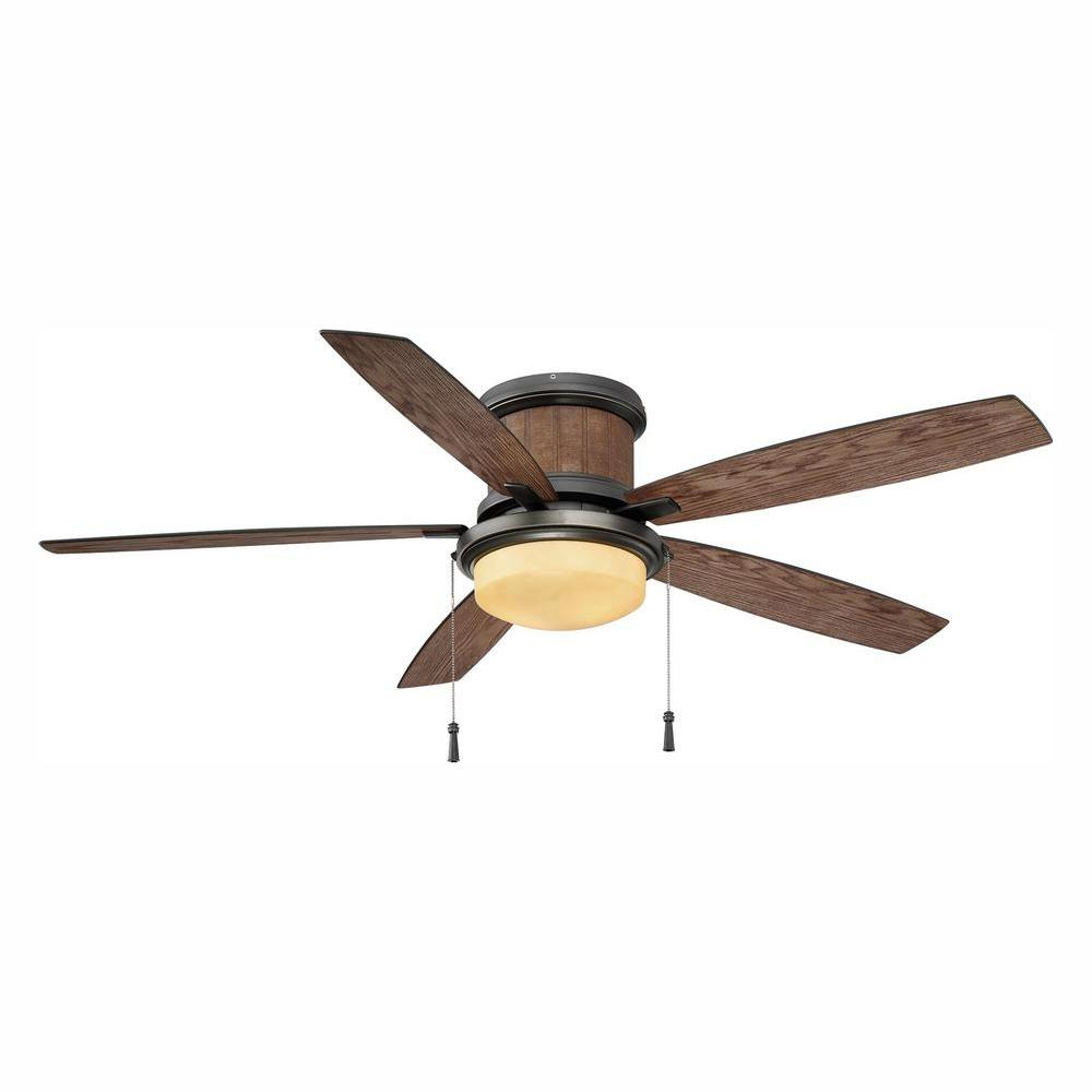Hampton Bay Roanoke 56 in. LED Indoor/Outdoor in Natural Iron Ceiling Fan was $129.0 now $99.0 (23.0% off)