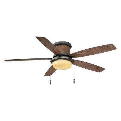 Roanoke 56 in. LED Indoor/Outdoor in Natural Iron Ceiling Fan