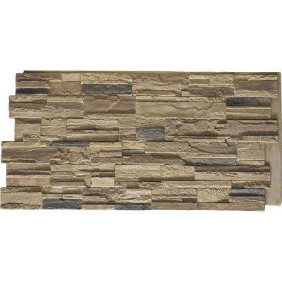 48 in. x 24 in. Cascade Stacked Stone Stonewall Faux Stone Siding Panel
