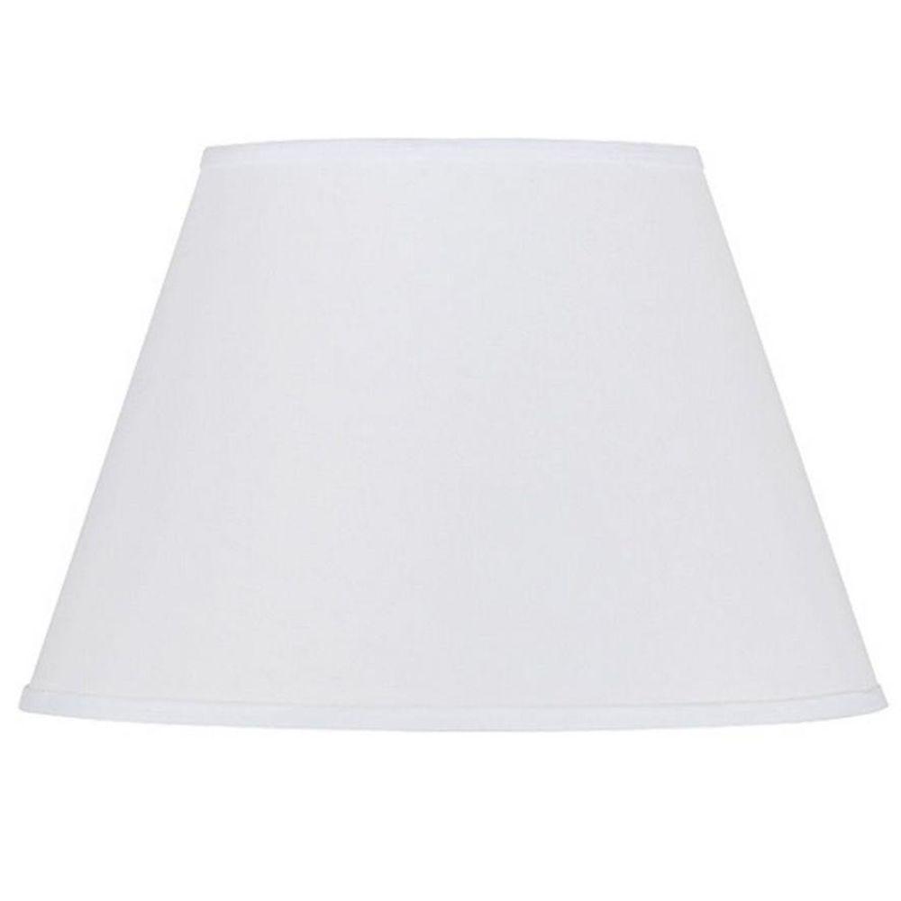 CAL Lighting 11 in. White Hardback Round Fabric Lamp Shade