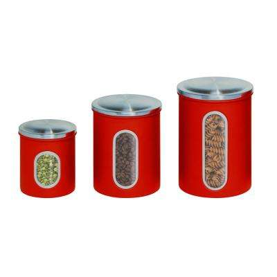 Metal Storage Canisters (3-Pack)