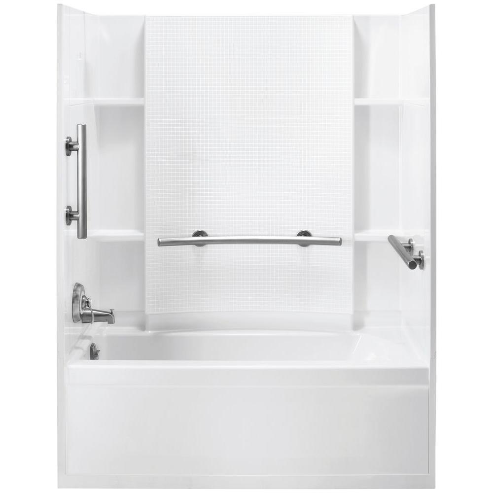 Accord 31-1/4 in. x 60 in. x 73-1/4 in. Bath and