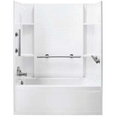Accord 31-1/4 in. x 60 in. x 73-1/4 in. Bath and Shower Kit with Left-Hand Drain in White