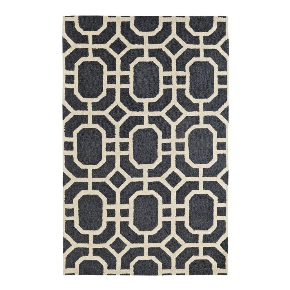 Palace Grey/Ivory 8 ft. x 11 ft. Indoor Area Rug