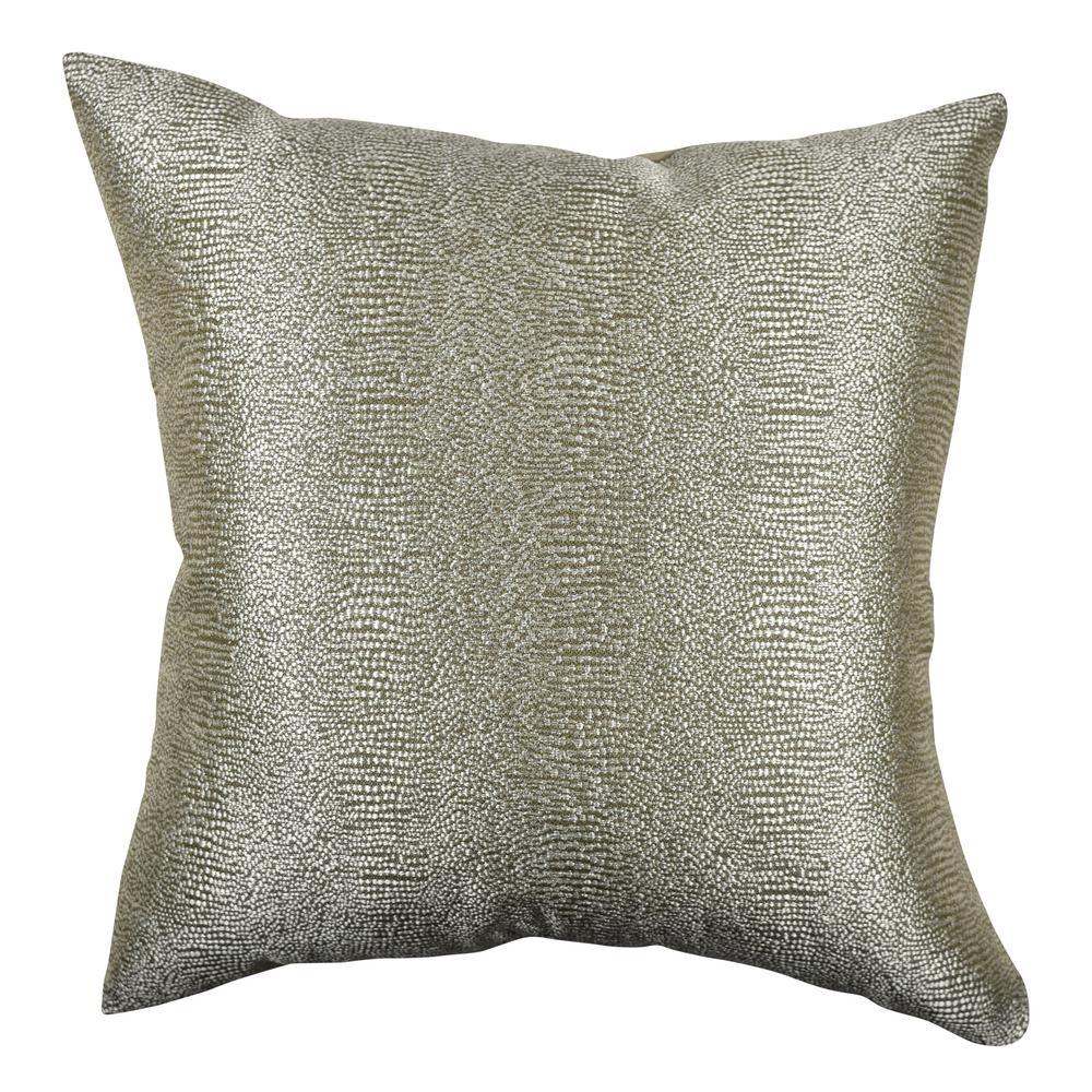 Paradise Bronze Designer Throw Pillow