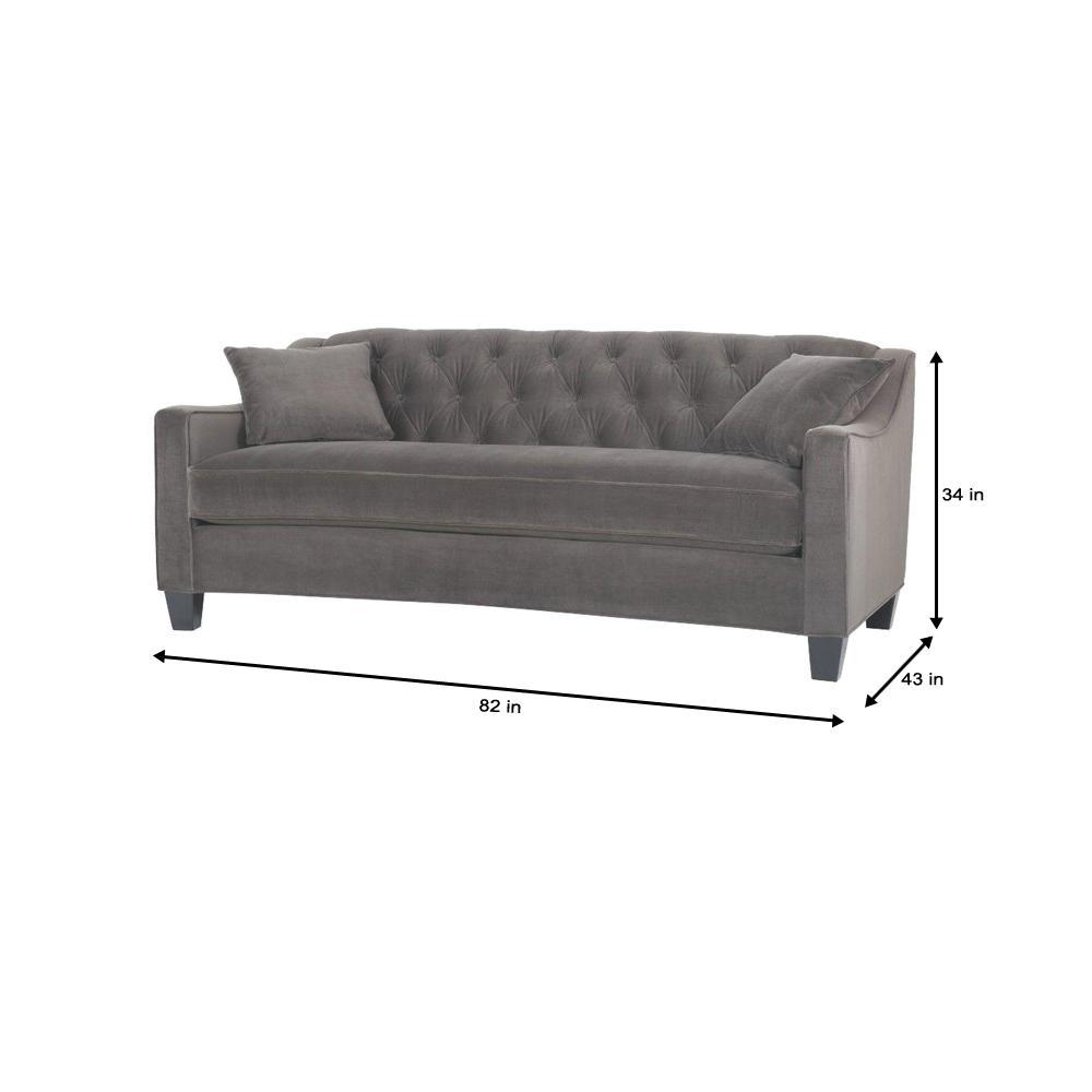 Riemann 81.5 in. Smoke Polyester Sofa