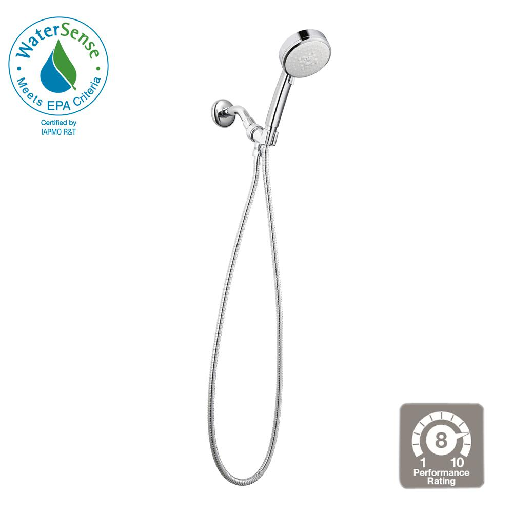 Vitalio Comfort 4-Spray Handheld Shower in Chrome
