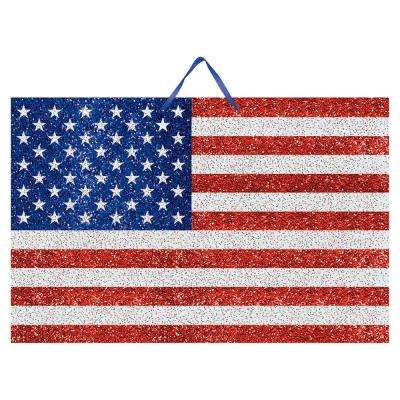 9.25 in. x 14.25 in. American Flag Glitter Sign (6-Pack)