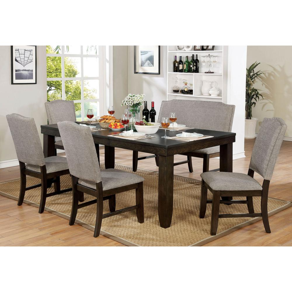 Williams Home Furnishing Teagan Dark Walnut Transitional Style Dining Table CM3911T