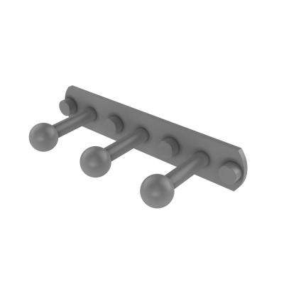 Prestige Skyline Collection 3 Position Robe Hook in Matte Gray