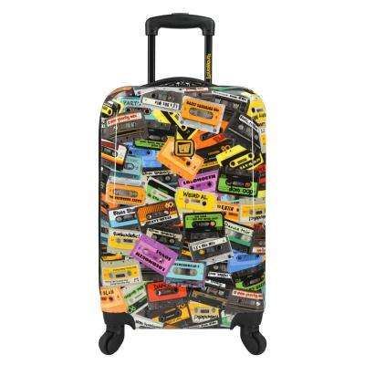 Party Mix 22 in. Expandable Carry-On Spinner Luggage, Black