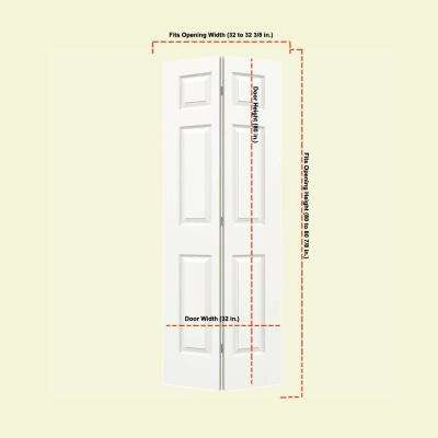 32 in. x 80 in. Colonist White Painted Smooth Molded Composite MDF Closet Bi-fold Door
