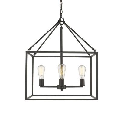 Wesson 4-Light Rubbed Bronze Chandelier