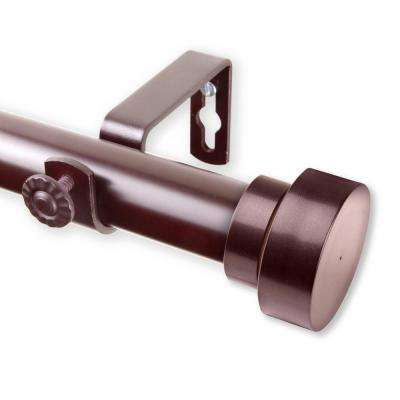 Bonnet 160 in. - 240 in. Curtain Rod in Mahogany