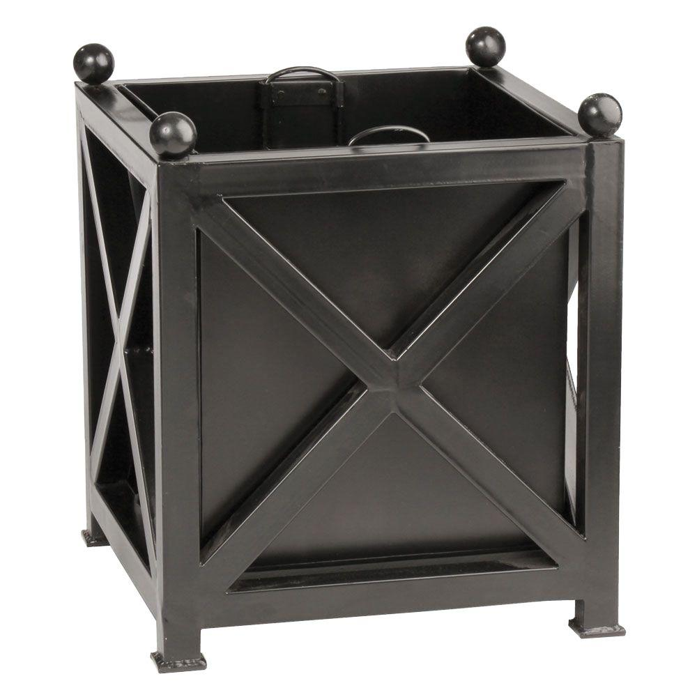 Napa Paris 20 In Square Black Galvanized Planter 66000bgp