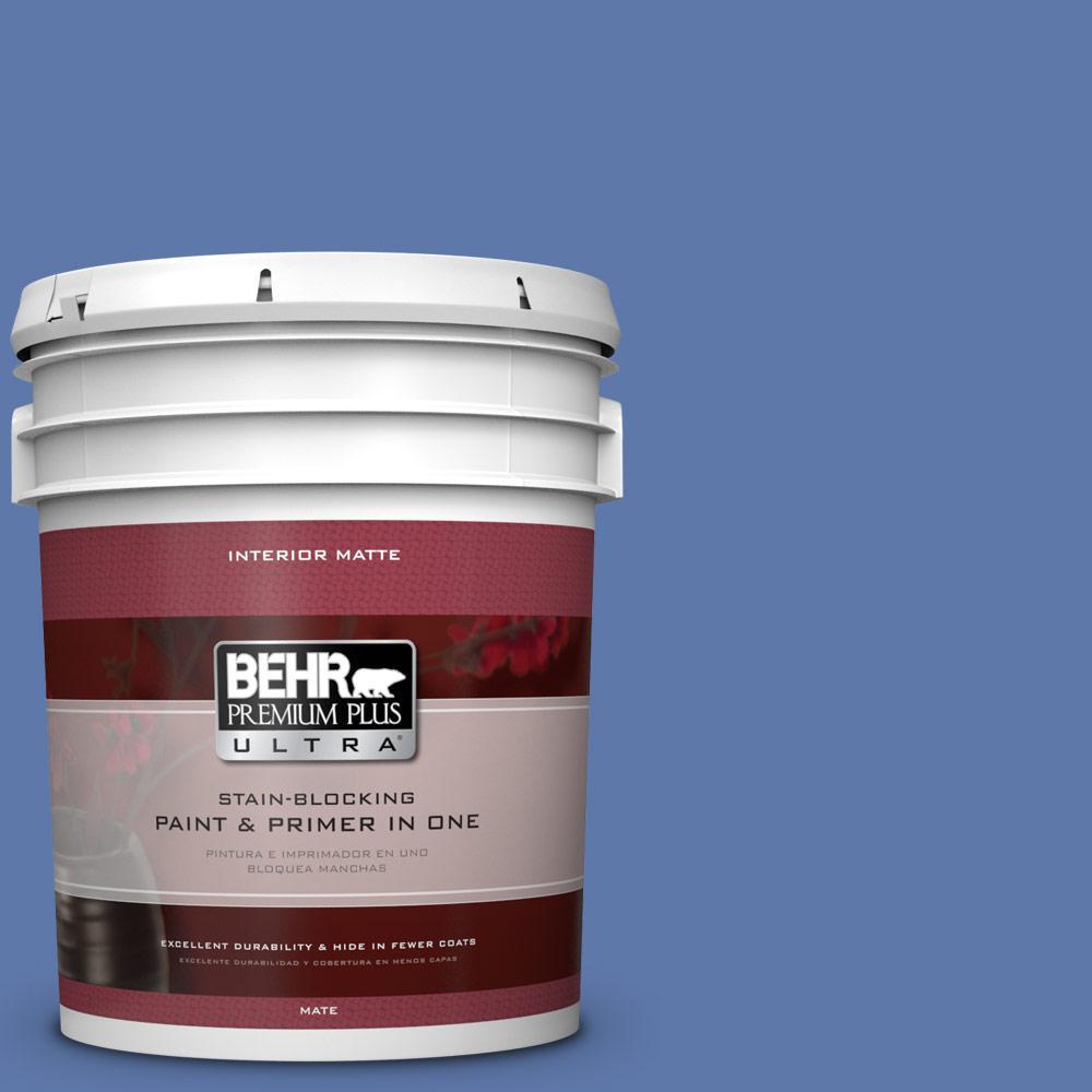 BEHR Premium Plus Ultra Home Decorators Collection 5 gal. #HDC-FL13-6 Baltic Blue Flat/Matte Interior Paint
