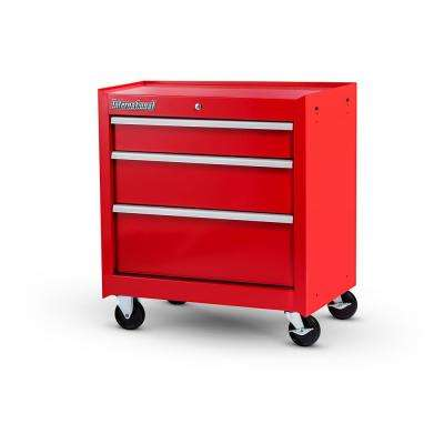 Workshop Series 27 in. 3-Drawer Cabinet, Red