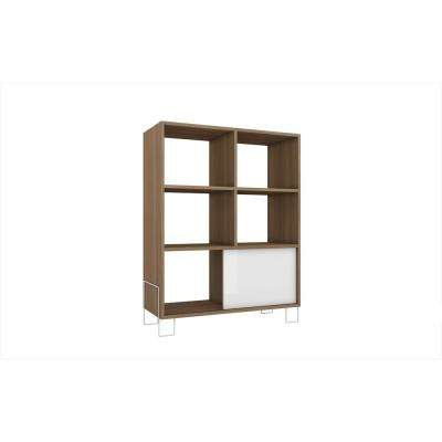 Boden Exquisite 31.69 in. W x 12.99 in. D Oak and White Free Standing Mid-High Side Stand