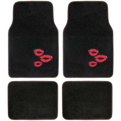 Red Lips MT-532 Design 4 Pieces Carpet Car Floor Mats