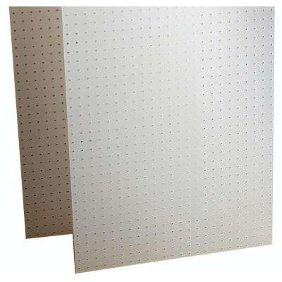 DuraBoard 1/8 in. White Polypropylene Pegboards with DuraHook Assortment (22-Pieces)