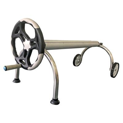 Stainless Steel In-Ground Pool U Shape Solar Roller with Large Hand Crank Wheel