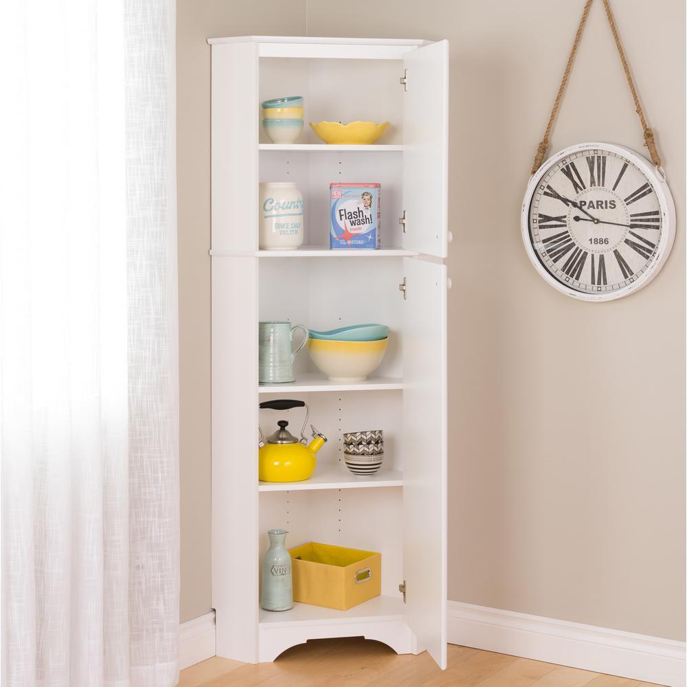 +4. Prepac Elite Tall White Laminate Storage Cabinet