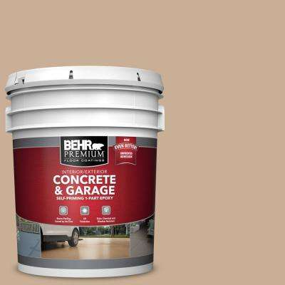 5 gal. #N260-3 Polo Tan Self-Priming 1-Part Epoxy Satin Interior/Exterior Concrete and Garage Floor Paint