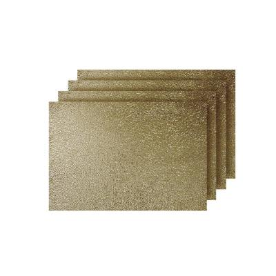 Lacey Gold Metallic Scribble Design Rectangle Placemats (Set of 4)