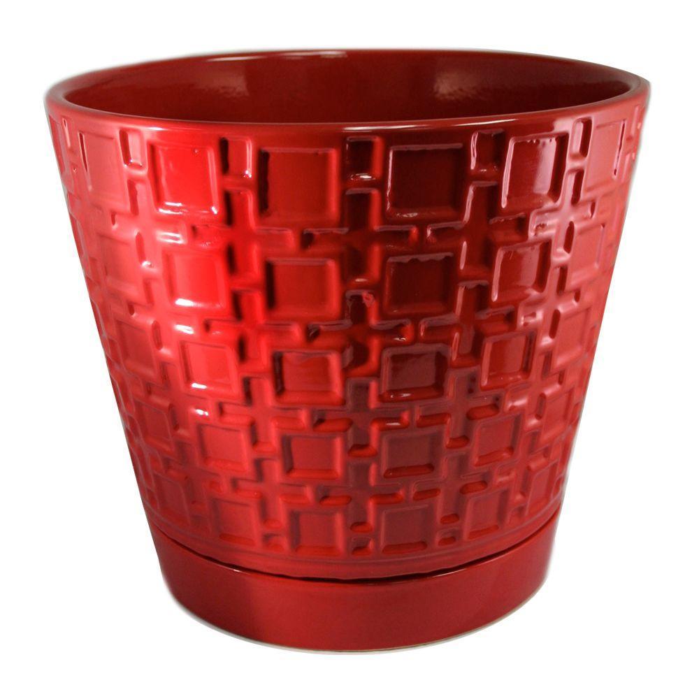 10 in. Cubelinx Ceramic Planter