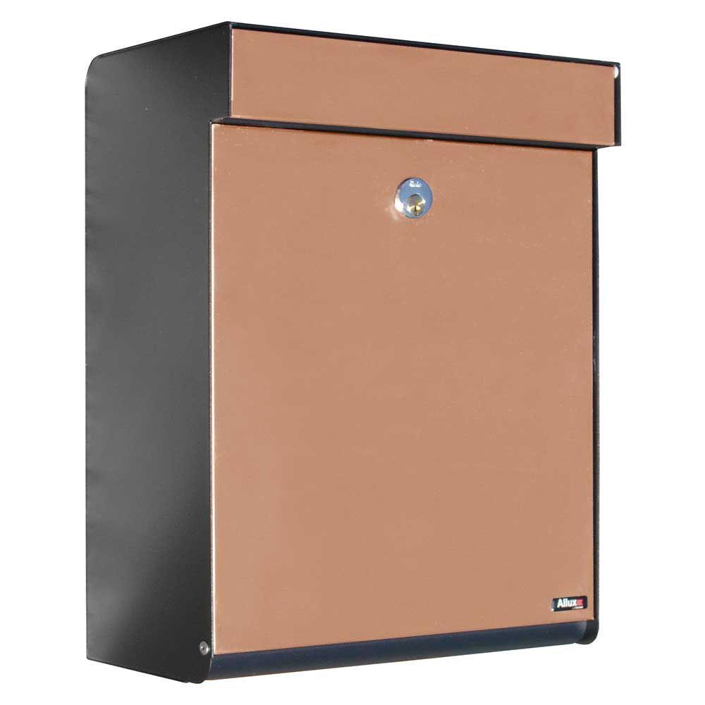 Grandform Black/Copper Locking Mailbox