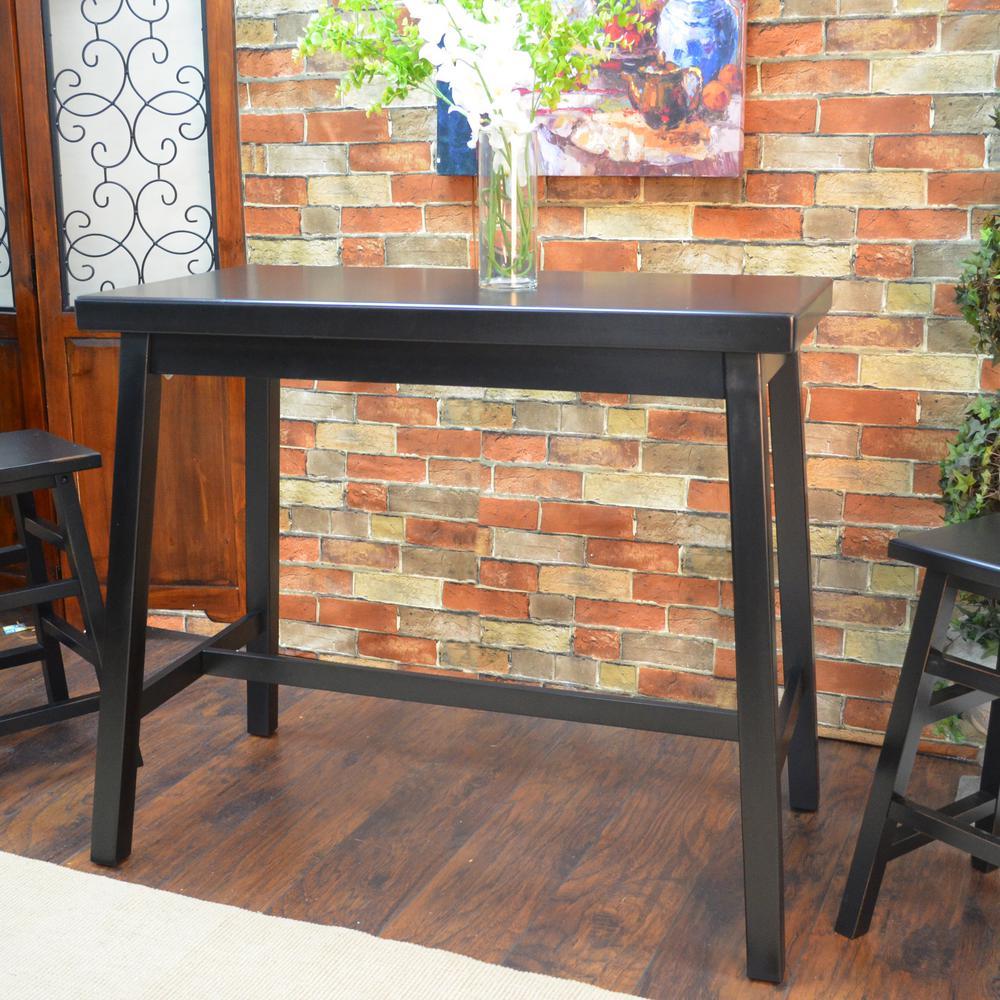 Carolina Cottage Asian Antique Black Pub/Bar Table