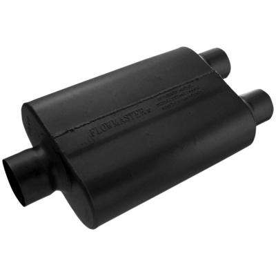 Universal 40 Series Muffler - 3.00 Ctr In / 2.50 Dual Out