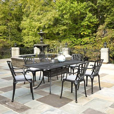 Charcoal Gray Patio Dining Sets Patio Dining Furniture The Home Depot