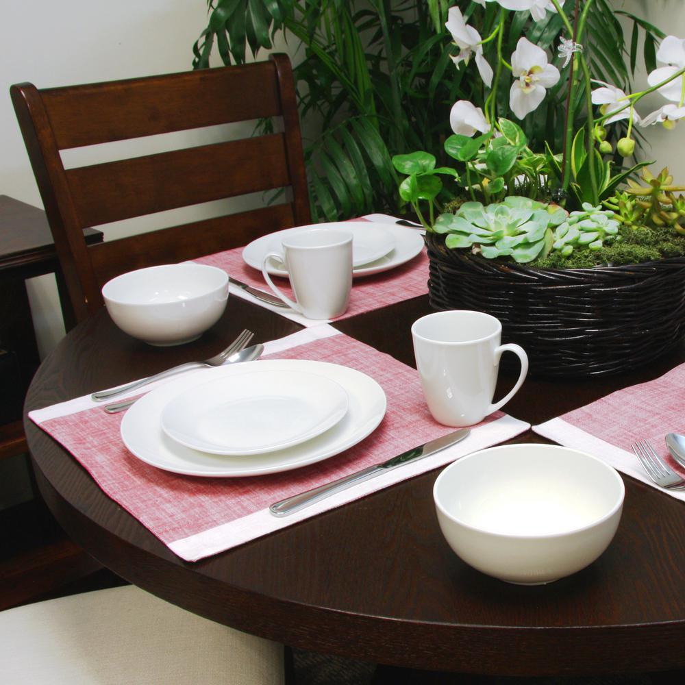 Gibson Ogalla 16-Piece White Dinnerware Set