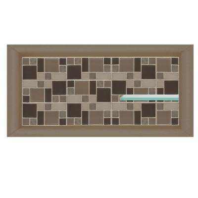 Tuscany 24 in. x 4 in. x 12 in. Shower Niche in Brown Sugar