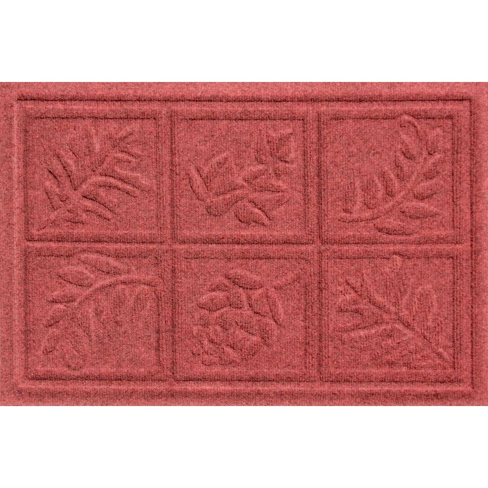 Bungalow Flooring Aqua Shield Nature Walk Red/Black 17.5 in. x 26.5 in. Door Mat