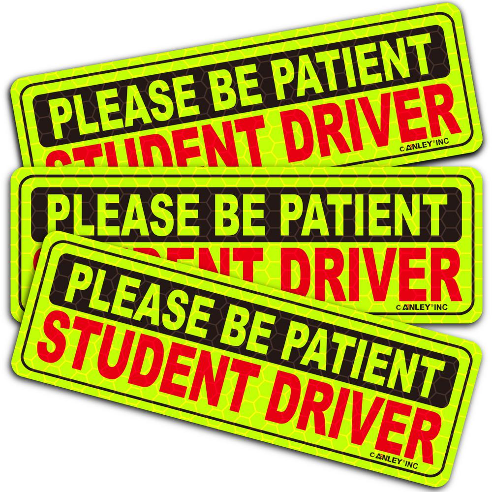 """12/"""" Magnetic Signs LARGE Student Driver Set Student Driver Magnets 3 PACK"""