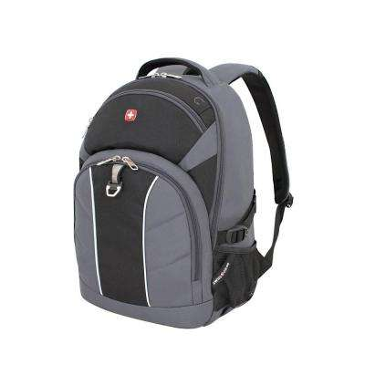 18.5 in. Grey and Black Backpack