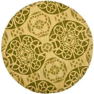 Wyndham Honey Green 7 Ft X Round Area Rug
