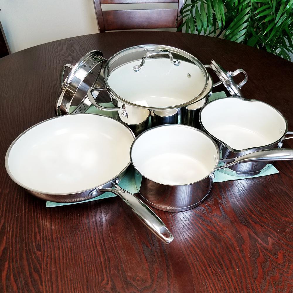 Gibson Cusine Gleaming 7-Piece Cookware Set