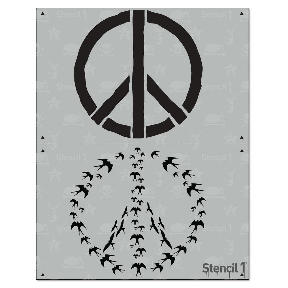 Stencil1 Peace Swallows 2 Layer Stencil-S1_2L_09 - The Home Depot