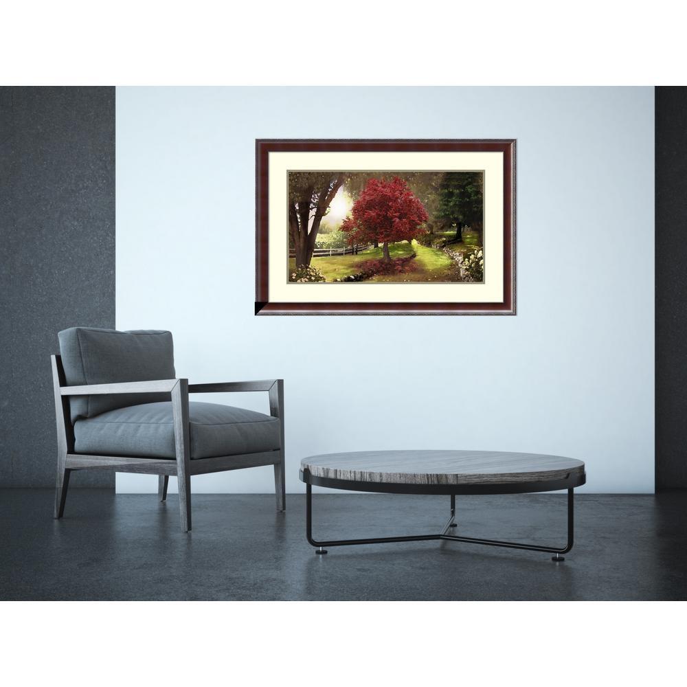"37 in. W x 25 in. H ""Inner Sanctuary (Tree)"" by David M (Maclean) Framed Art Print"