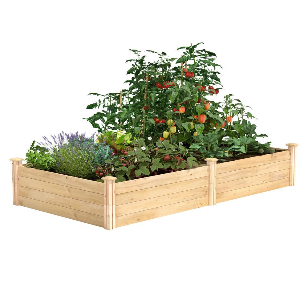 4 ft. x 8 ft. x 14 in. Original Cedar Raised Garden Bed