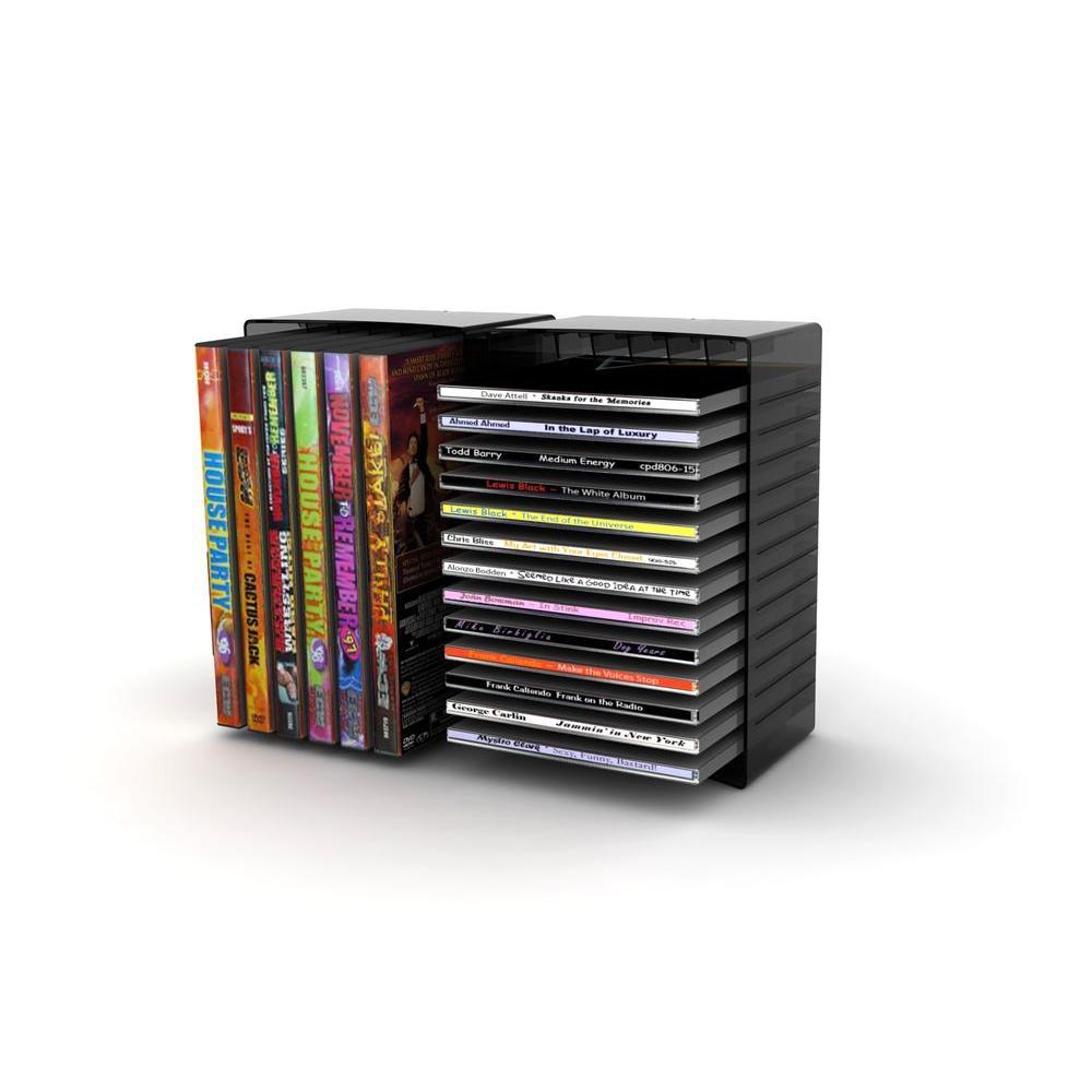 Atlantic Black Media Storage 22335730 The Home Depot