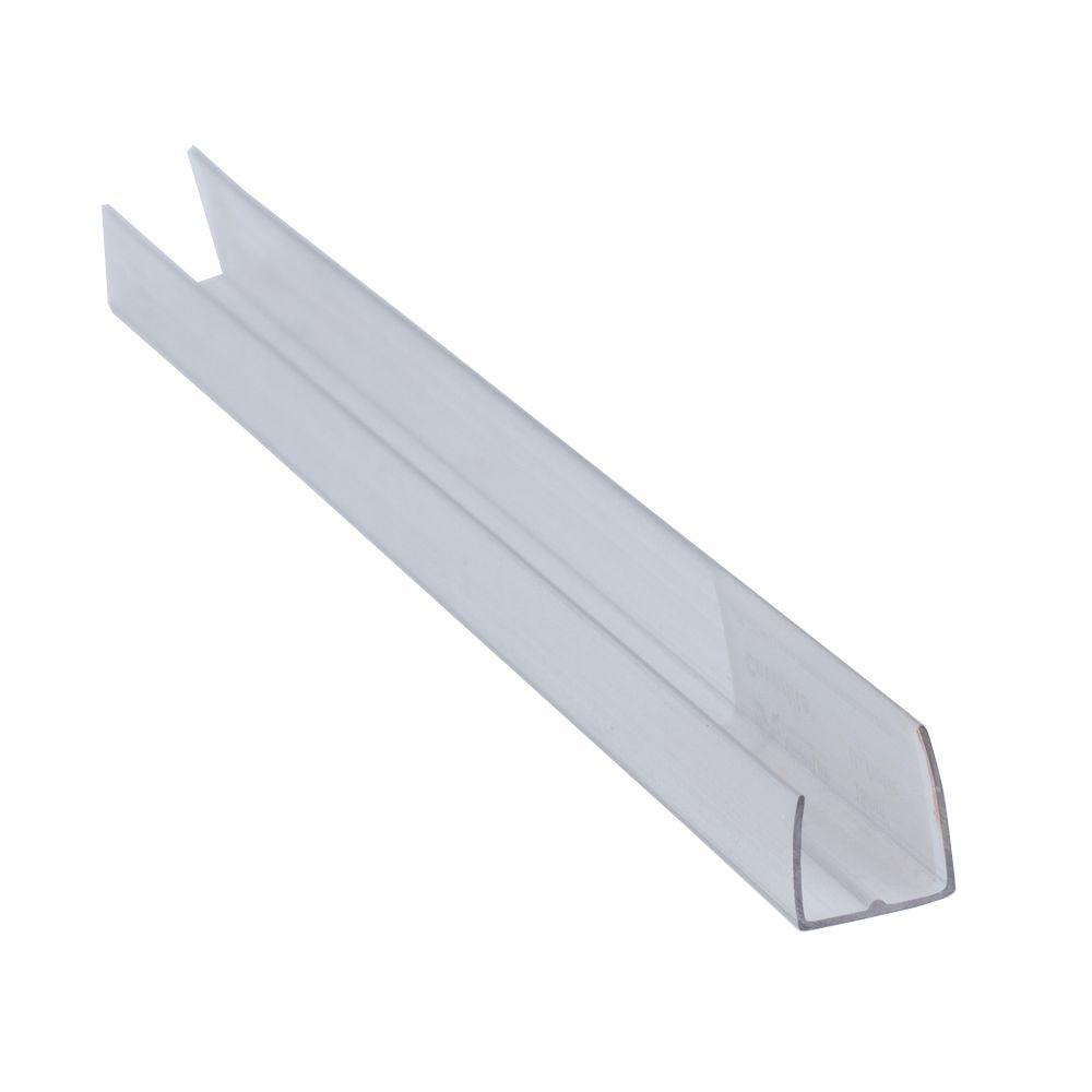 null 1/4 in. x 96 in. x 1/4 in. Thermoclear Polycarbonate Multi-Wall U-Channel