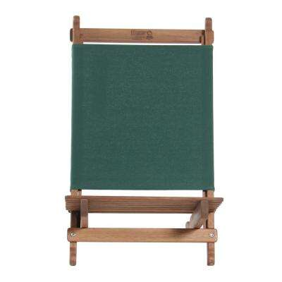 Green Fabric Outdoor Safe Folding Lounger Chair